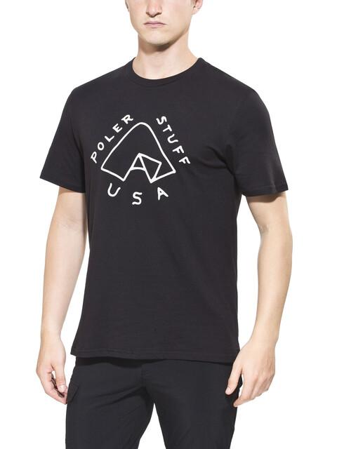 POLER Tent - T-shirt manches courtes Homme - noir